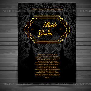 Hochzeitseinladung - Vektorgrafik-Design