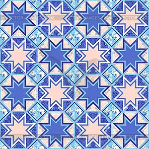 Quilt Abstraktes Nahtloses Muster - Stock Vektor-Bild