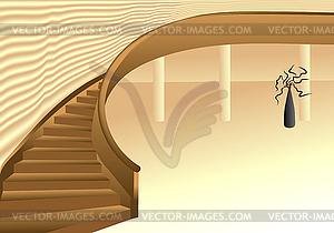 Interieur Design Halle - Stock Vektorgrafik