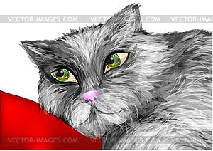 Müde alte Katze - Vector-Clipart EPS