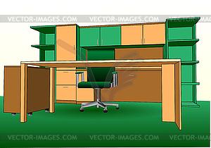 Modern office interior - vektorisiertes Bild