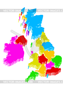 Uk Karte - Vektor-Clipart EPS
