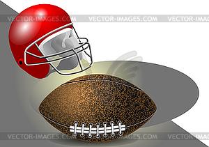 Helm und Ball - Vektor-Clipart EPS