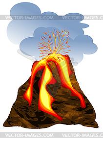 Vulkan - Vektorgrafik