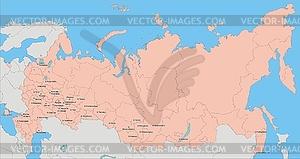 Landkarte von Russland mit Krim - Vektor-Clipart / Vektorgrafik