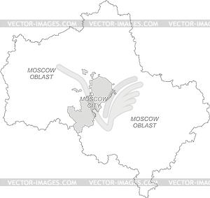 Übersichtskarte der Region Moskau - Vector Clip Art