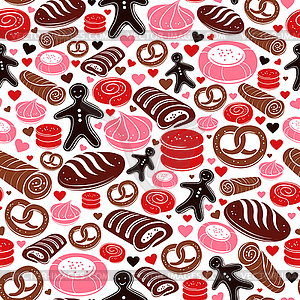 Süße Back nahtlose Muster - Vector-Clipart EPS