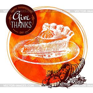 Thanksgiving Day Hintergrund. Typografische Poster. - vektorisiertes Clipart