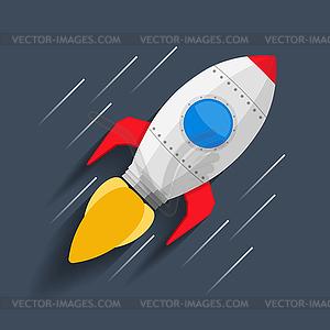 Rakete im Weltraum - Vector-Clipart / Vektor-Bild