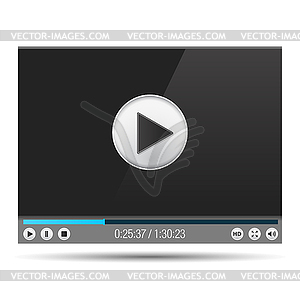 Video Player - Vektor-Skizze