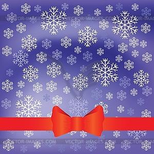 Blauer Hintergrund mit Schneeflocken - farbige Vektorgrafik