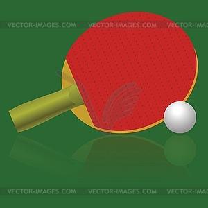 Tischtennis Schläger und Ball - Vektorgrafik-Design
