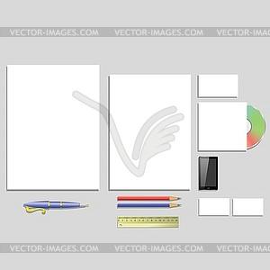 Büromaterial - Vector-Clipart EPS