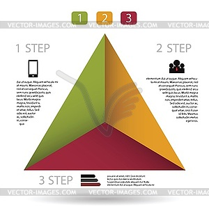 Moderne Infografik für Business-Projekt - vektorisierte Grafik