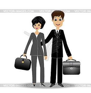 Zwei Business-Mann und Frau - Vektorgrafik-Design