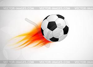 Fußball mit Flammen - Vector-Clipart