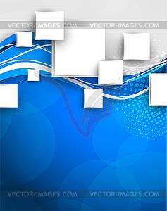 Abstrakter blauer Hintergrund  - Stock Vektor-Clipart