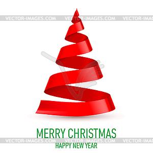 Schleife als Weihnachtsbaum - vektorisierte Grafik