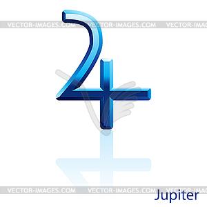 Jupiter-Zeichen - Vektor-Clipart