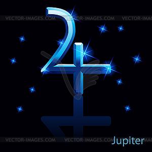 Jupiter-Zeichen - Vector-Clipart / Vektorgrafik