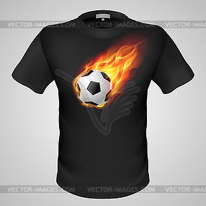 Male T-Shirt mit Print - Vector Clip Art