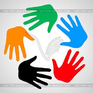 Hände der Freundschaft - Vektor-Clipart EPS