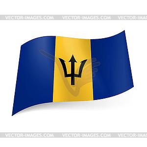 Staatsflagge von Barbados - farbige Vektorgrafik