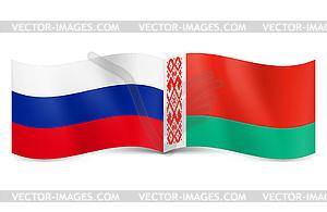 Union von Russland und Weißrussland - Vektor-Clipart