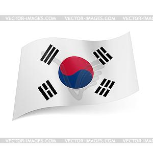 Staatsflagge von Südkorea - Vector-Clipart EPS