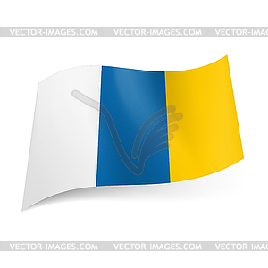 Vektorbild, Flagge Kanarische Inseln - Vector-Illustration