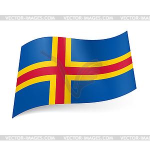 Flagge der Aland-Inseln - Vektor-Klipart