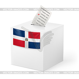 Wahlurne mit Stimmzettel. Dominikanische Republik - Stock Vektorgrafik