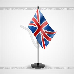 Tabelle Flagge von Großbritannien - Vektor-Skizze