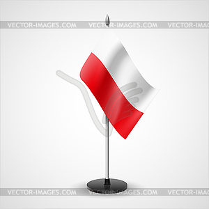 Tabelle Flagge Polens - Royalty-Free Vektor-Clipart