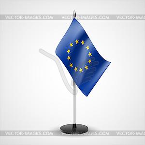 Tischfahne der Europäischen Union - Vektor-Clipart / Vektorgrafik
