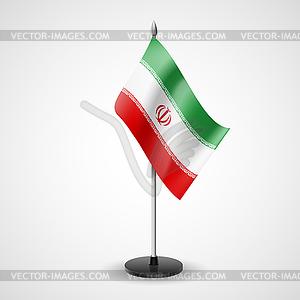 Tabelle Flagge des Iran - Vektor-Clipart / Vektor-Bild