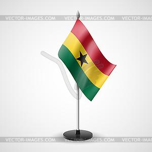 Tischfahne von Ghana - vektorisiertes Clip-Art