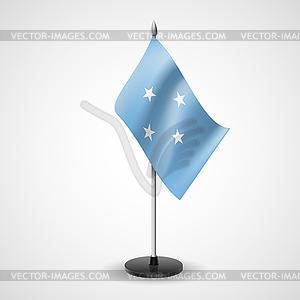 Tischfahne der Föderierten Staaten von Mikronesien - Royalty-Free Vektor-Clipart