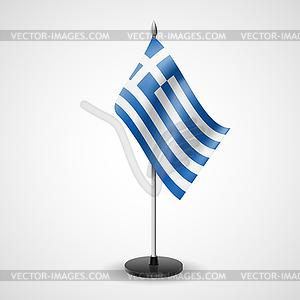 Tischfahne von Griechenland - Stock Vektorgrafik