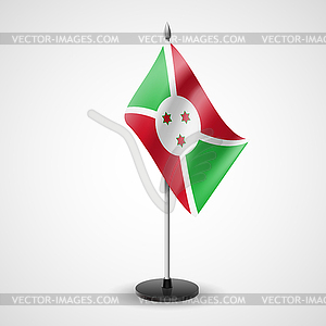 Tischfahne von Burundi - Vektorgrafik