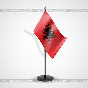 Tischfahne von Albanien - Vektor-Illustration