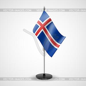 Tischfahne von Island - vektorisiertes Design