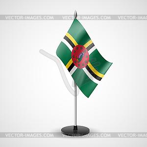 Tischfahne von Dominica - Vektor-Illustration