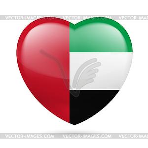 Herz Symbol der Vereinigten Arabischen Emirate - Vektor-Clipart / Vektorgrafik