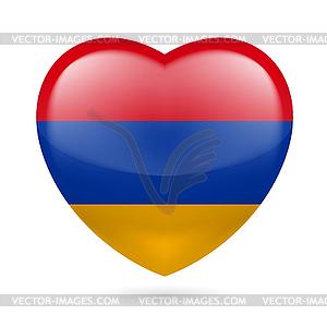 Herz-Symbol von Armenien - Clipart-Bild
