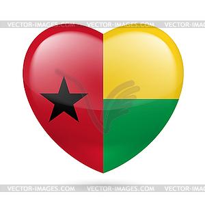 Herz-Symbol von Guinea-Bissau - Vektor-Clipart
