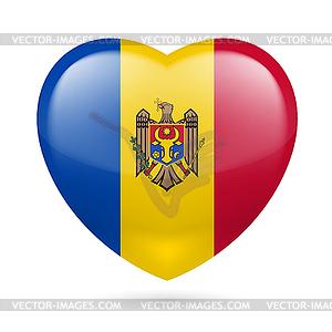 Herz Symbol der Republik Moldau - Vector-Bild