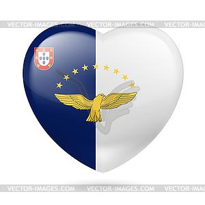 Herz Symbol der Azoren - Stock-Clipart