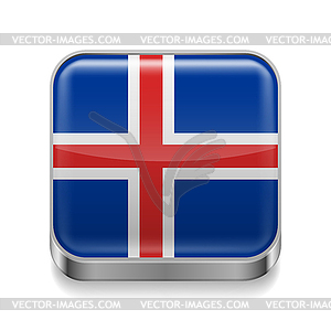 Metal-Ikone von Island - Stock Vektorgrafik