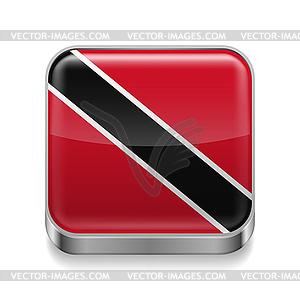 Metal-Ikone von Trinidad und Tobago - Vektor-Clipart / Vektorgrafik